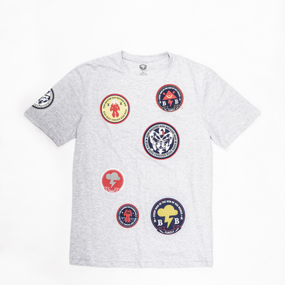 Stamps grey - t shirt 490,-